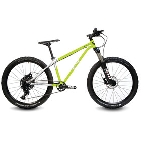 """Early Rider Hellion Trail MTB Hardtail 24"""" Kids, brushed aluminum/lime"""